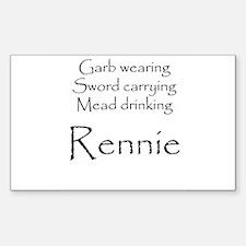 Rennie Rectangle Decal