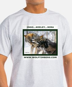 Wolf Timbers Pack Ash Grey T-Shirt