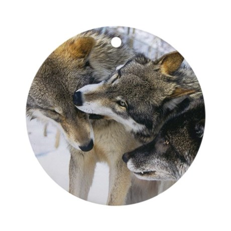 Wolf Timbers Pack Ornament (Round)
