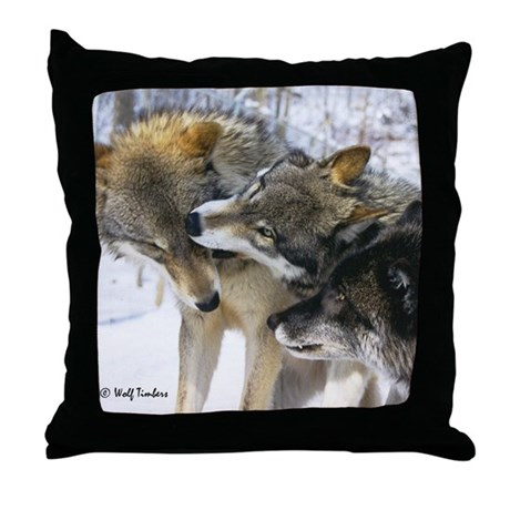 Wolf Timbers Pack Throw Pillow