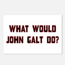 What Would J. Galt Do? Postcards (Package of 8)