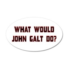 What Would J. Galt Do? 22x14 Oval Wall Peel