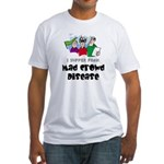 Mad Crowd Disease Fitted T-Shirt
