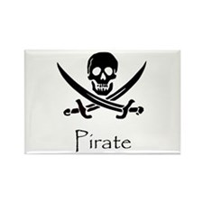 Pirate Rectangle Magnet