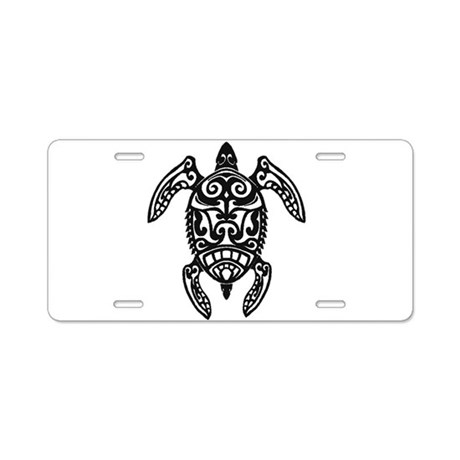 Tribal Sea Turtle Aluminum License Plate
