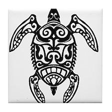 Tribal Sea Turtle Tile Coaster
