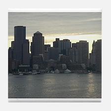 Unique Massachusetts cities Tile Coaster