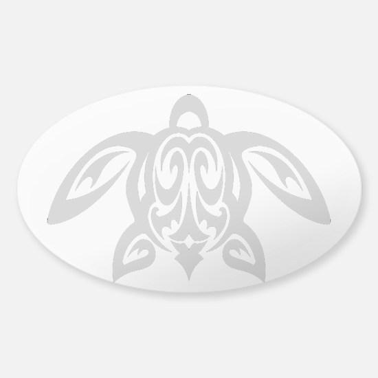 Sea Turtle Pacific Sticker (Oval)
