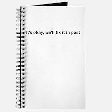 it's okay, we'll fix it in po Journal