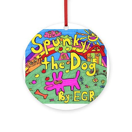 Spunky the Dog Ornament (Round)