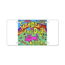 Spunky the Dog Aluminum License Plate