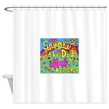 Spunky the Dog Shower Curtain