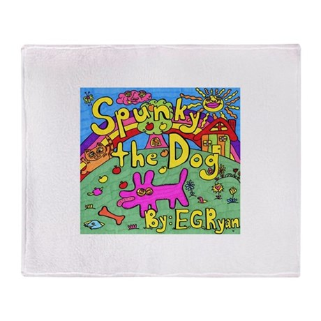 Spunky the Dog Throw Blanket