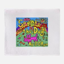 Spunky the Dog Throw Blanket