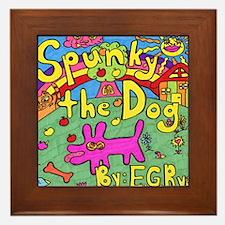Spunky the Dog Framed Tile