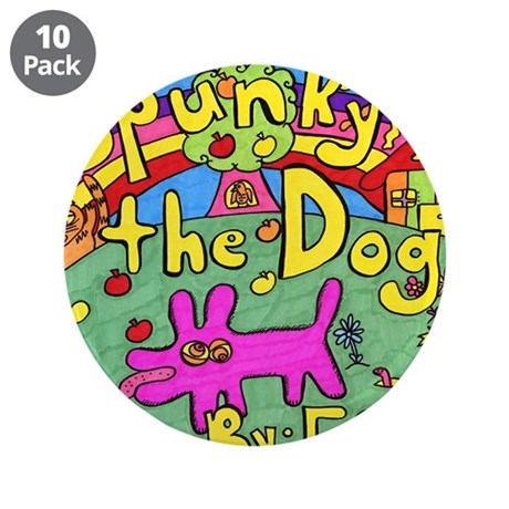 """Spunky the Dog 3.5"""" Button (10 pack)"""