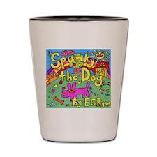 Spunky the Dog Shot Glass