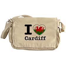 I love Cardiff Messenger Bag