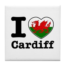 I love Cardiff Tile Coaster