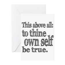 Shakespeare To Thy Own Self Be True Greeting Cards