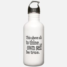 Shakespeare To Thy Own Self Be True Water Bottle