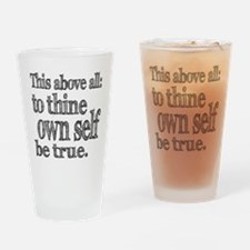 Shakespeare To Thy Own Self Be True Drinking Glass