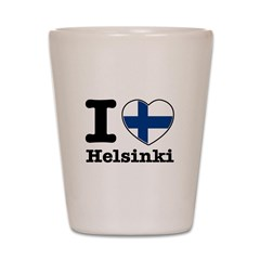 I love Helsinki Shot Glass