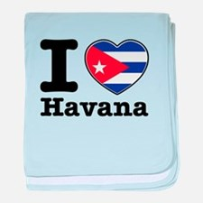 I love Havana baby blanket