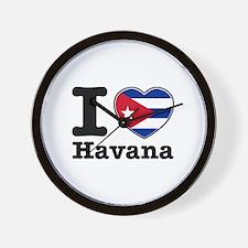I love Havana Wall Clock
