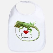 Love Iguanas Bib