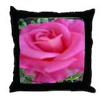 First Rose on Deck Throw Pillow