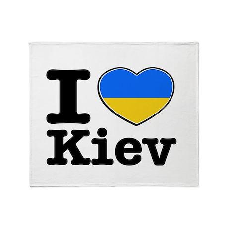 I love Kiev Throw Blanket
