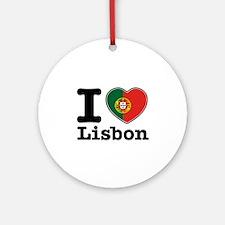I love Lisbon Ornament (Round)