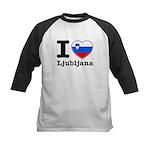 I love Ljubljana Kids Baseball Jersey