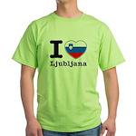 I love Ljubljana Green T-Shirt