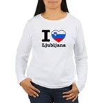I love Ljubljana Women's Long Sleeve T-Shirt