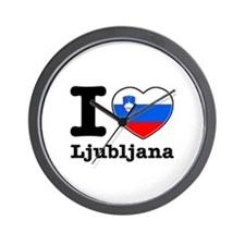 I love Ljubljana Wall Clock