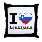 I love Ljubljana Throw Pillow