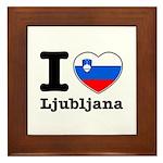 I love Ljubljana Framed Tile