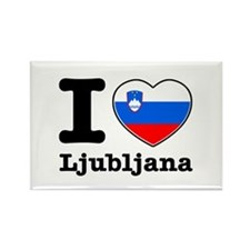 I love Ljubljana Rectangle Magnet