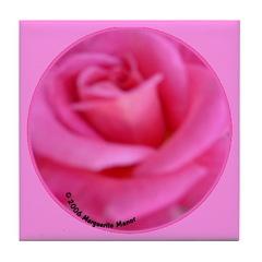 First Rose on Deck Tile Coaster