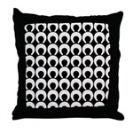 Retro Mod Pattern Throw Pillow