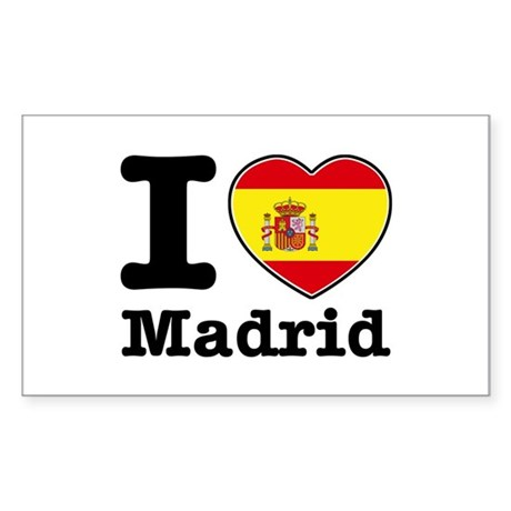 I love Madrid Sticker (Rectangle)