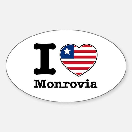 I love Monrovia Sticker (Oval)