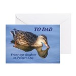 Duck Father's Day Card Greeting Cards