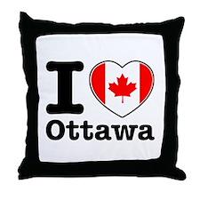 I love Ottawa Throw Pillow