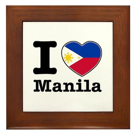 I love Manila Framed Tile