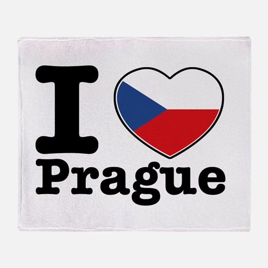 I love Prague Throw Blanket