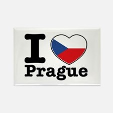 I love Prague Rectangle Magnet