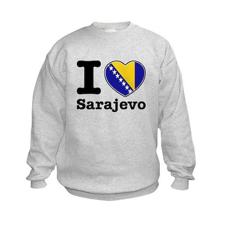 I love Sarajevo Kids Sweatshirt